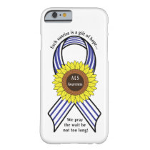 Amyotrophic Lateral Sclerosis ALS Sunflower Barely There iPhone 6 Case