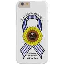 Amyotrophic Lateral Sclerosis ALS Sunflower Barely There iPhone 6 Plus Case