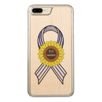 Amyotrophic Lateral Sclerosis ALS Sunflower Carved iPhone 7 Plus Case