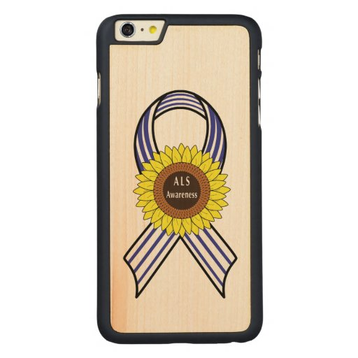 Amyotrophic Lateral Sclerosis ALS Sunflower Carved® Maple iPhone 6 Plus Slim Case