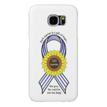 Amyotrophic Lateral Sclerosis ALS Sunflower Samsung Galaxy S6 Case