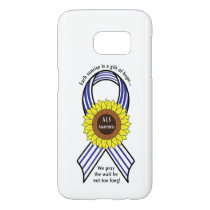 Amyotrophic Lateral Sclerosis ALS Sunflower Samsung Galaxy S7 Case