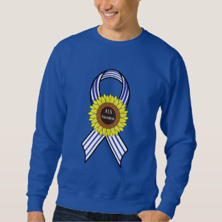 Amyotrophic Lateral Sclerosis ALS Sunflower Sweatshirt