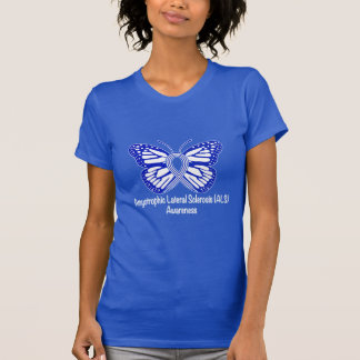 Amyotrophic Lateral Sclerosis ALS with Butterfly T-Shirt