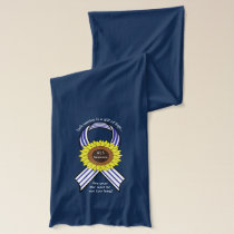 Amyotrophic Lateral Sclerosis ALS with Sunflower Scarf