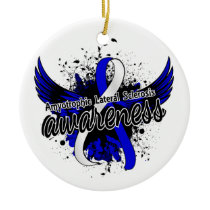 Amyotrophic Lateral Sclerosis Awareness 16 Ceramic Ornament