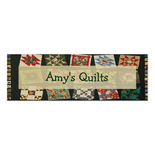 Amy's Quilt Tag Mini Business Card