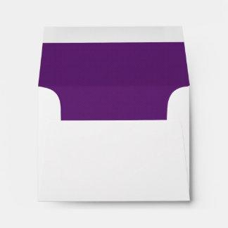 Amythest Purple RSVP Wedding Response B45 Envelope
