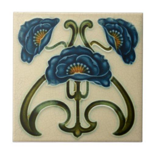 An003 Art Nouveau Reproduction Antique Tile Zazzle