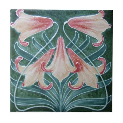 An012 Art Nouveau Reproduction Antique Tile Zazzle