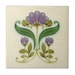 """AN015 Art Nouveau Reproduction Antique Tile<br><div class=""""desc"""">Historical antique tile reproduced on a smooth surface 4.25&quot; or 6&quot; ceramic tile. Perfect for interior tile wall accents, backsplashes, fireplace surrounds, bathroom and showers walls, kitchens and craft projects. Not intended for outdoor use. Our tiles are copies of costly authentic original antique tiles. Suggestion: Order one tile to review...</div>"""