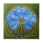 """AN019 Art Nouveau Reproduction Antique Tile<br><div class=""""desc"""">Historical antique tile reproduced on a smooth surface 4.25&quot; or 6&quot; ceramic tile. Perfect for interior tile wall accents, backsplashes, fireplace surrounds, bathroom and showers walls, kitchens and craft projects. Not intended for outdoor use. Our tiles are copies of costly authentic original antique tiles. Suggestion: Order one tile to review...</div>"""