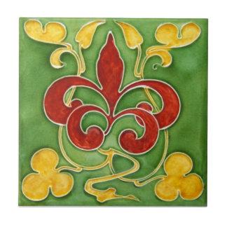 AN032 Art Nouveau Reproduction Antique Tile