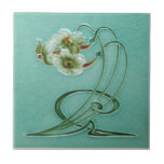 "AN033 Art Nouveau Reproduction Antique Tile<br><div class=""desc"">Historical antique tile reproduced on a smooth surface 4.25&quot; or 6&quot; ceramic tile. Perfect for interior tile wall accents, backsplashes, fireplace surrounds, bathroom and showers walls, kitchens and craft projects. Not intended for outdoor use. Our tiles are copies of costly authentic original antique tiles. Suggestion: Order one tile to review...</div>"