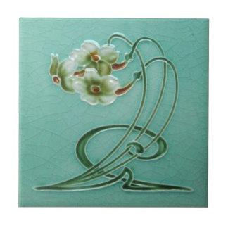 AN033 Art Nouveau Reproduction Antique Tile