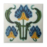 "AN038 Art Nouveau Reproduction Antique Tile<br><div class=""desc"">Historical antique tile reproduced on a smooth surface 4.25&quot; or 6&quot; ceramic tile. Perfect for interior tile wall accents, backsplashes, fireplace surrounds, bathroom and showers walls, kitchens and craft projects. Not intended for outdoor use. Our tiles are copies of costly authentic original antique tiles. Suggestion: Order one tile to review...</div>"