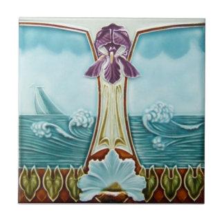 AN051 Art Nouveau Reproduction Antique Tile
