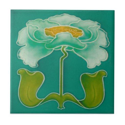 An054 Art Nouveau Reproduction Antique Tile Zazzle
