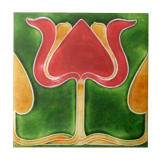AN062 Art Nouveau Reproduction Antique Tile