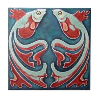 AN066 Art Nouveau Reproduction Antique Tile