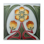 "AN070 Art Nouveau Reproduction Antique Tile<br><div class=""desc"">Historical antique tile reproduced on a smooth surface 4.25&quot; or 6&quot; ceramic tile. Perfect for interior tile wall accents, backsplashes, fireplace surrounds, bathroom and showers walls, kitchens and craft projects. Not intended for outdoor use. Our tiles are copies of costly authentic original antique tiles. Suggestion: Order one tile to review...</div>"