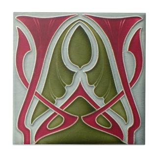 AN071 Art Nouveau Reproduction Antique Tile