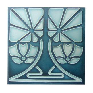 AN073 Art Nouveau Reproduction Antique Tile