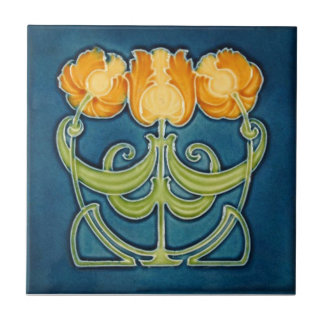 AN081 Art Nouveau Reproduction Antique Tile