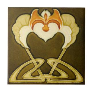 AN082 Art Nouveau Reproduction Antique Tile