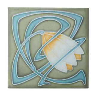 AN084 Art Nouveau Reproduction Antique Tile