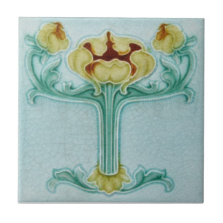 AN086 Art Nouveau Reproduction Antique Tile