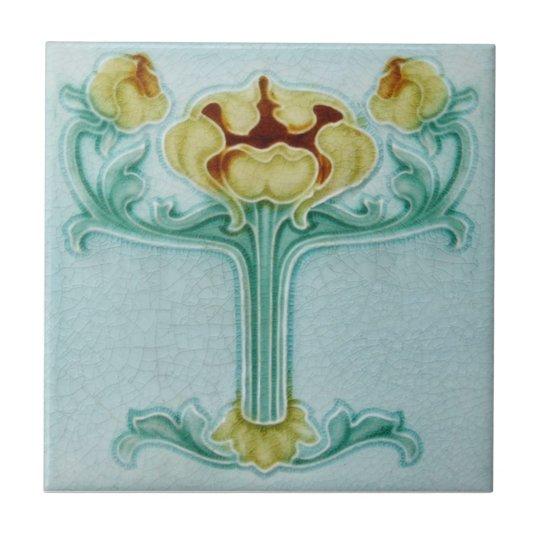 An086 Art Nouveau Reproduction Antique Tile Zazzle Com