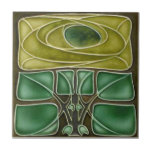 "AN103 Art Nouveau Reproduction Antique Tile<br><div class=""desc"">Historical antique tile reproduced on a smooth surface 4.25&quot; or 6&quot; ceramic tile. Perfect for interior tile wall accents, backsplashes, fireplace surrounds, bathroom and showers walls, kitchens and craft projects. Not intended for outdoor use. Our tiles are copies of costly authentic original antique tiles. Suggestion: Order one tile to review...</div>"