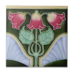 "AN111 Art Nouveau Reproduction Antique Tile<br><div class=""desc"">Historical antique tile reproduced on a smooth surface 4.25&quot; or 6&quot; ceramic tile. Perfect for interior tile wall accents, backsplashes, fireplace surrounds, bathroom and showers walls, kitchens and craft projects. Not intended for outdoor use. Our tiles are copies of costly authentic original antique tiles. Suggestion: Order one tile to review...</div>"