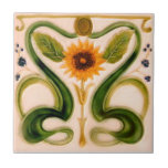 "AN113 Art Nouveau Reproduction Antique Tile<br><div class=""desc"">Historical antique tile reproduced on a smooth surface 4.25&quot; or 6&quot; ceramic tile. Perfect for interior tile wall accents, backsplashes, fireplace surrounds, bathroom and showers walls, kitchens and craft projects. Not intended for outdoor use. Our tiles are copies of costly authentic original antique tiles. Suggestion: Order one tile to review...</div>"