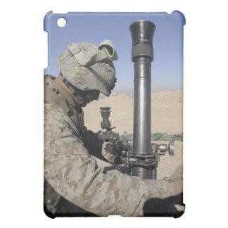 An 81mm mortarman adjusts the mortar sights iPad mini cases