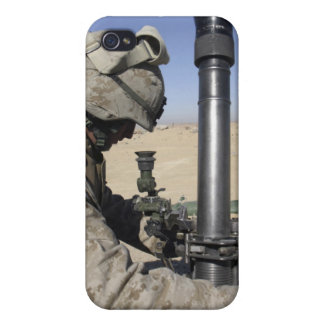 An 81mm mortarman adjusts the mortar sights iPhone 4/4S cover