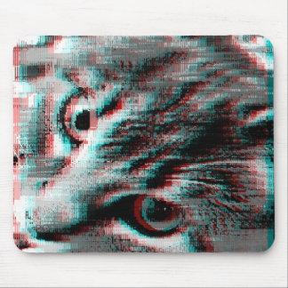 An 8bit Cat Glitch Mouse Pad