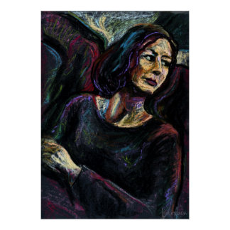 An Absolute Stranger - an oil pastel painitng Poster