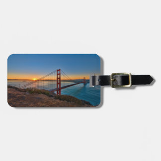 An absolutely stunning sunrise bag tag