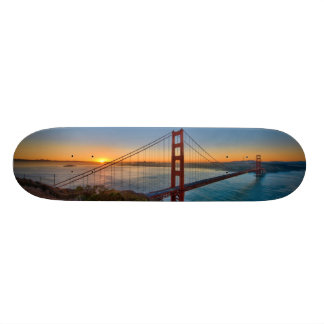 An absolutely stunning sunrise skateboard deck