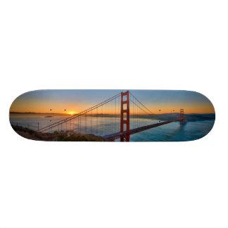 An absolutely stunning sunrise skateboard deck