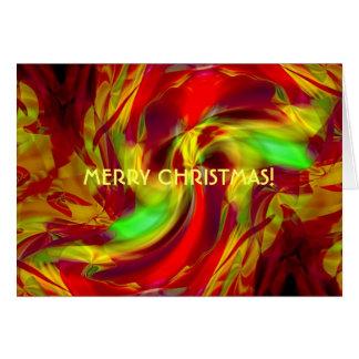 An Abstract Christmas Festive Card