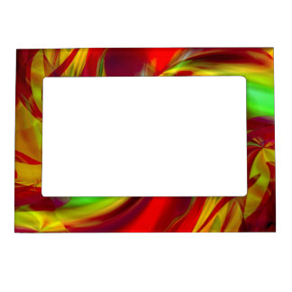 An Abstract Christmas Festive Magnetic Frame