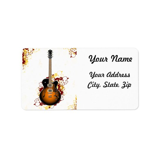 An Abstract Guitar Label