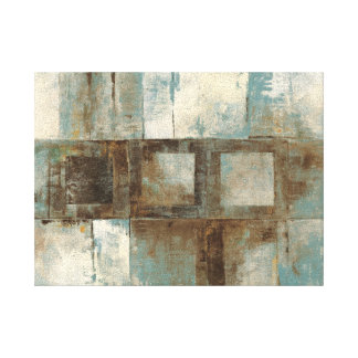 An Abstract in Blue and Brown Canvas Prints
