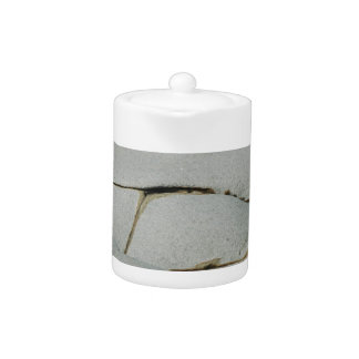 An abstract pattern of white and grey. teapot
