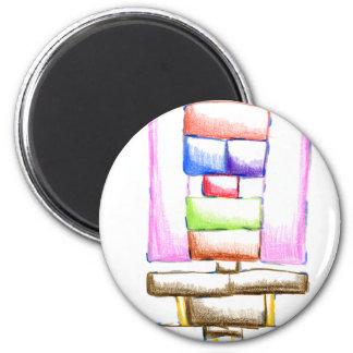 An Abstract Sunday Fridge Magnets