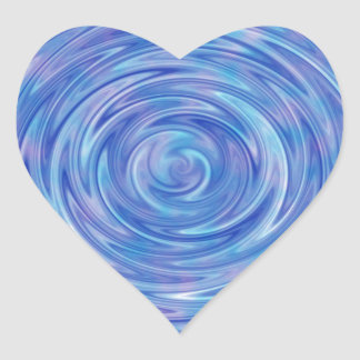An Abstract Swirl of Color in Blue and Purple Heart Sticker