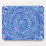 An Abstract Swirl of Color in Blue and Purple Mouse Pads
